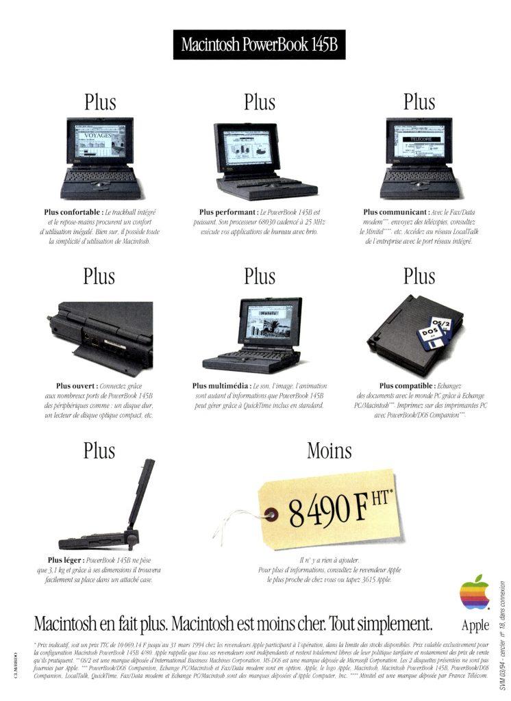 PowerBook 145B publicité