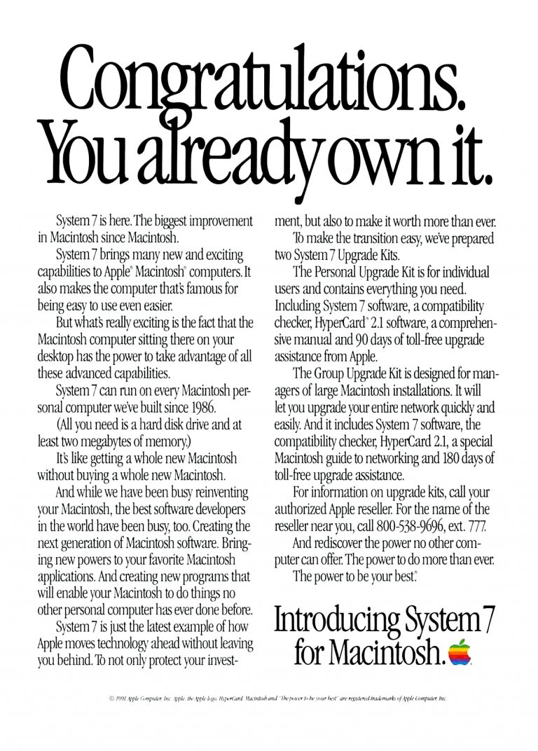 1991 Apple ad - easier to use and more powerful than a Macintosh