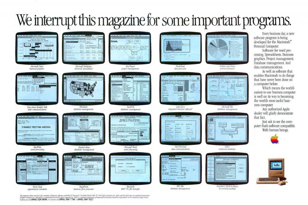 1985 Apple Ad Macintosh Programs