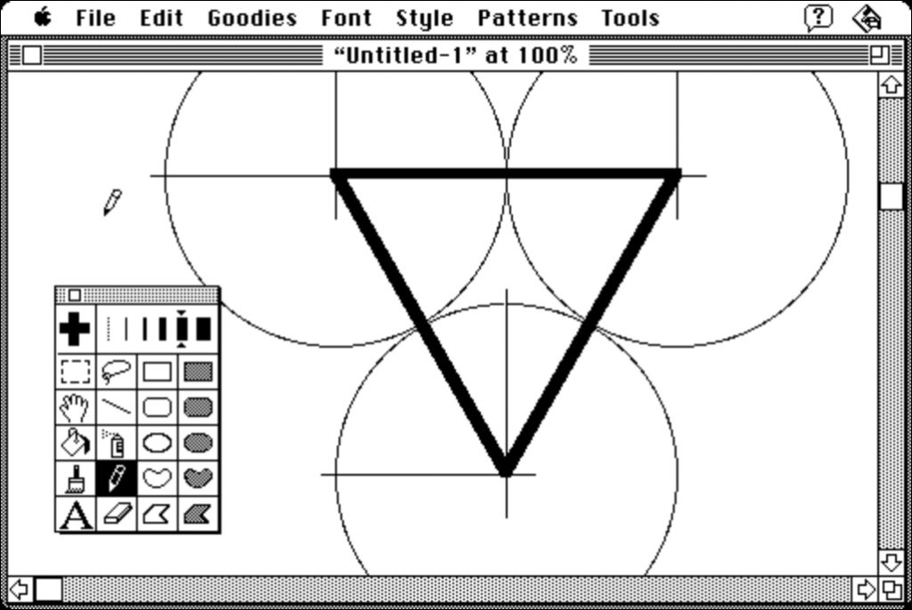 triangle équilateral macpaint