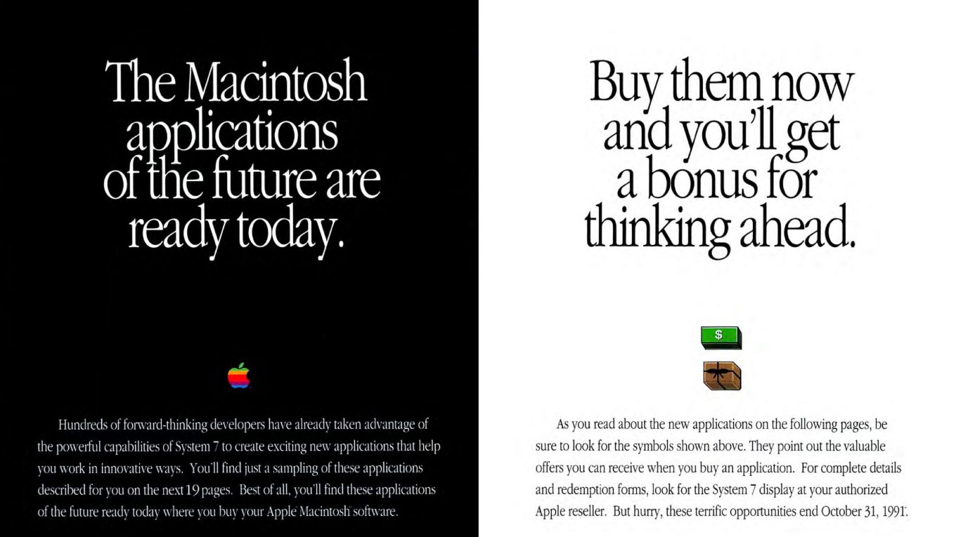 1991 Apple Ad : the macintosh applications of the future are ready today