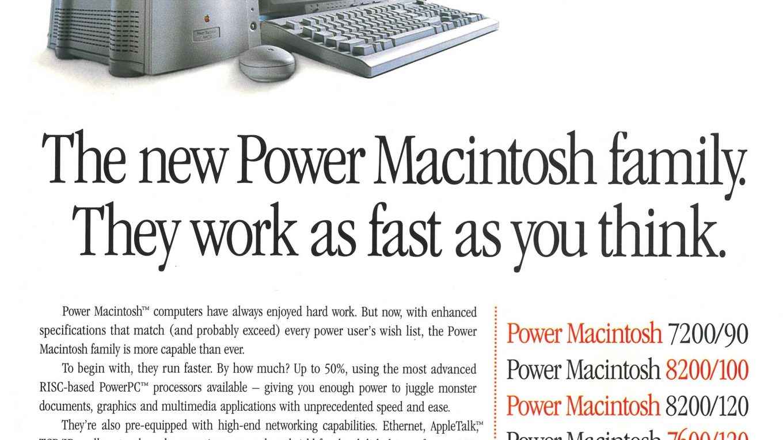 Apple 1996 Ad : Power Mac 7200 8200 7600 8500 9500