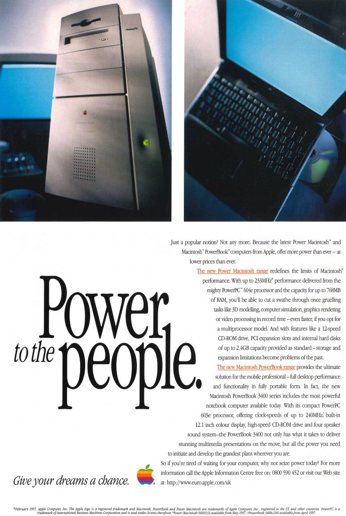 Power to the people Apple 1997 ad