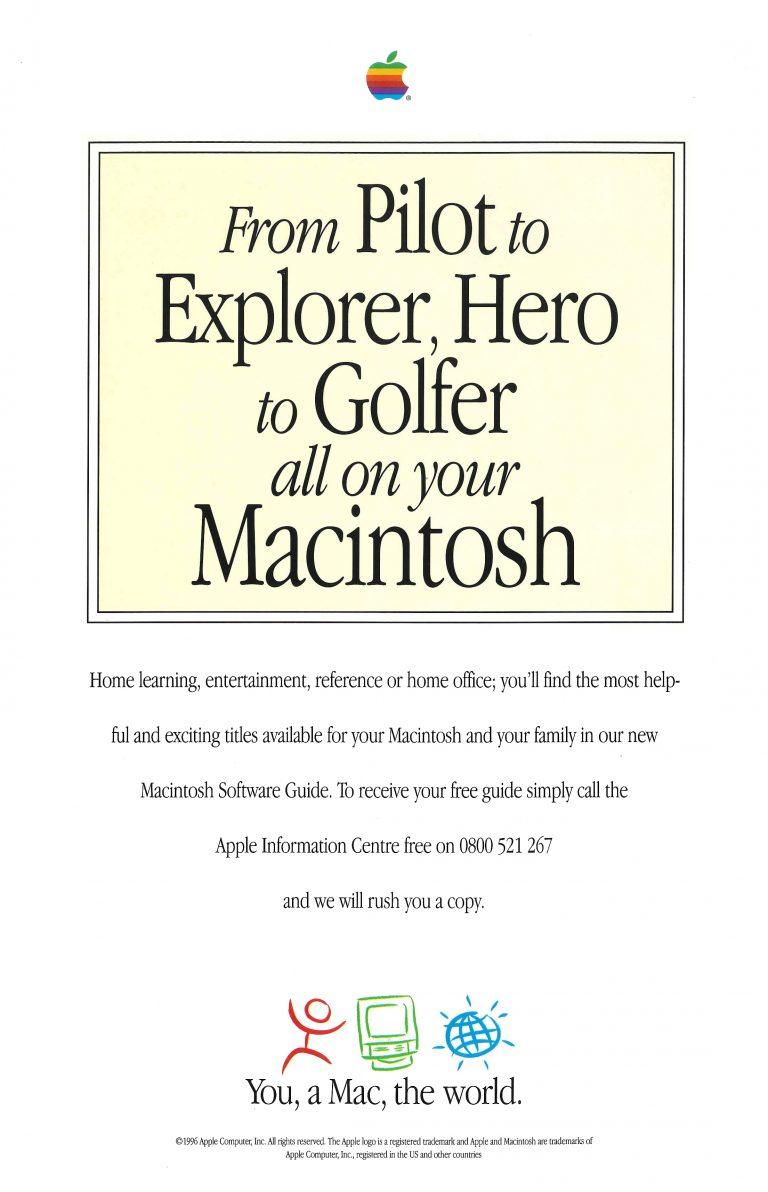 Apple Ad : pilot, explorer, hero, golfer