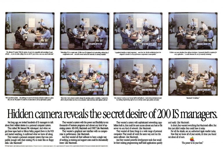 Publicité Apple 1990 IS manager