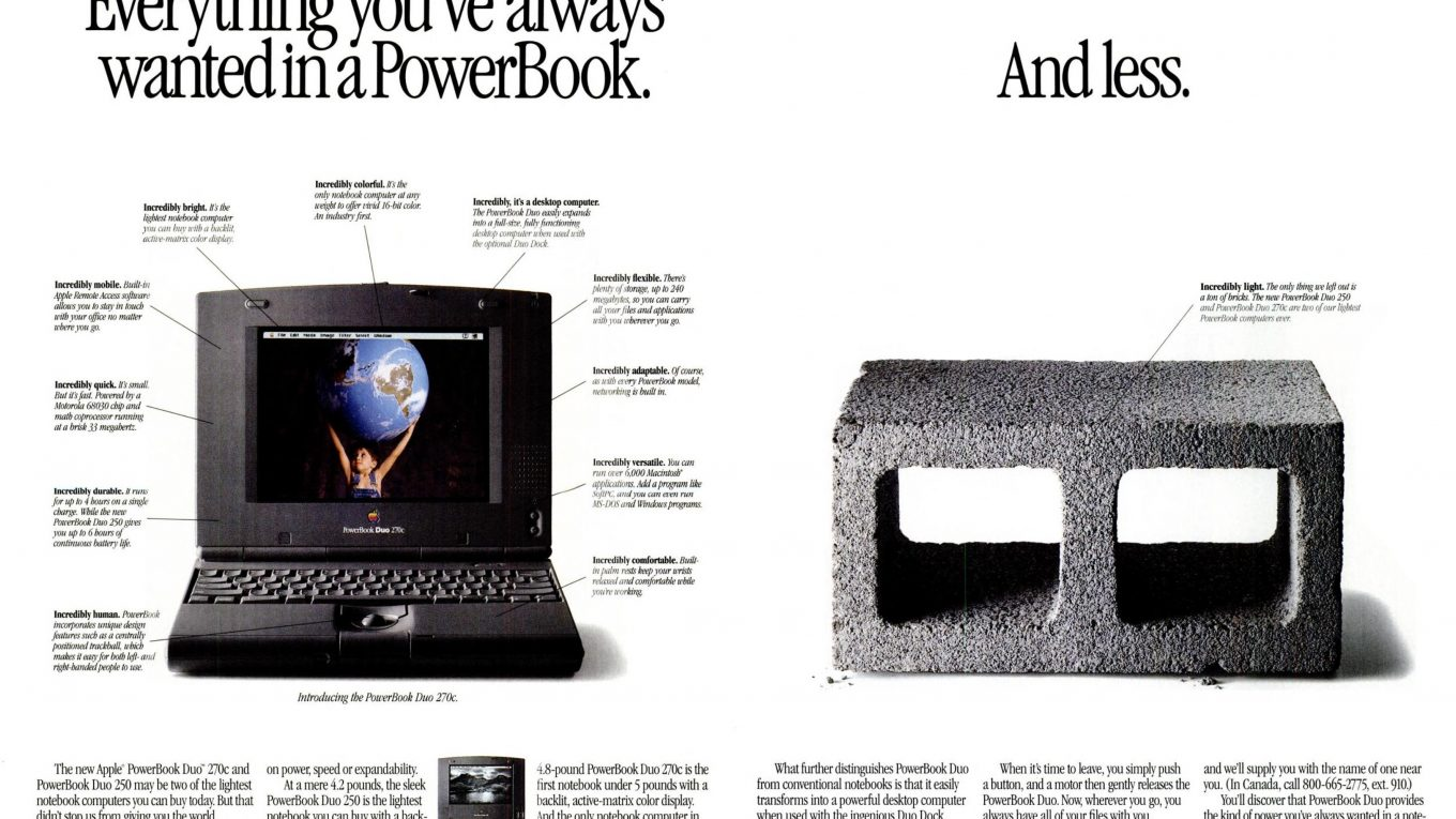1994 PowerBook Duo Ad