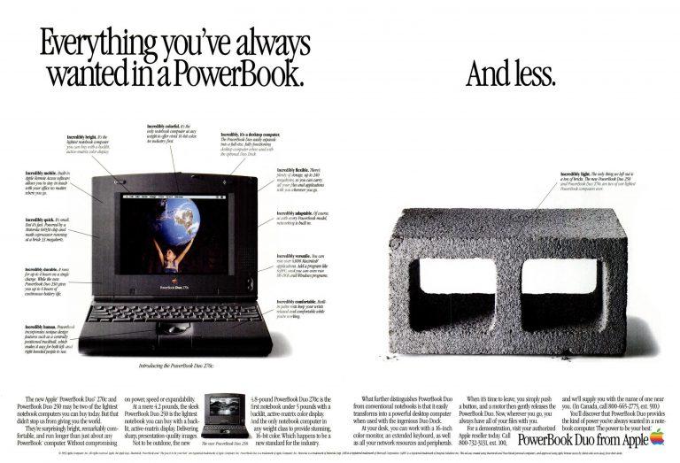 1994 PowerBook Duo Ad