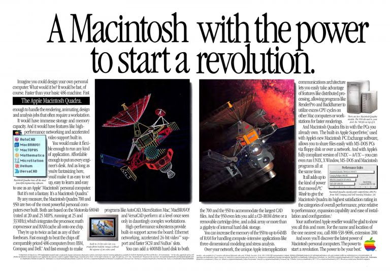 Apple Macintosh Quadra 1992 Apple Ad