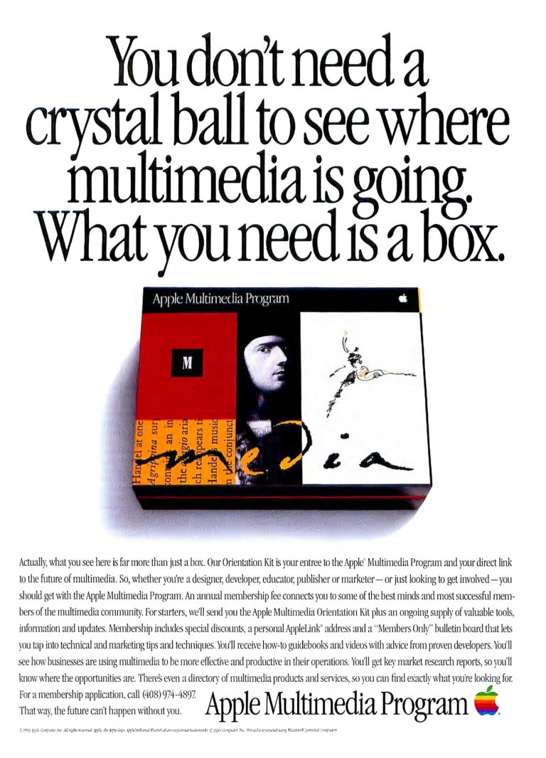 1993 Apple Ad : Apple Multimedia Program