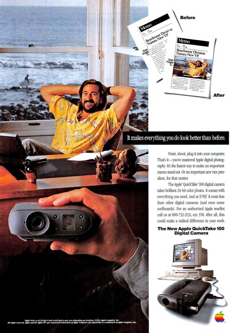 Apple QuickTake 100 1994 Ad