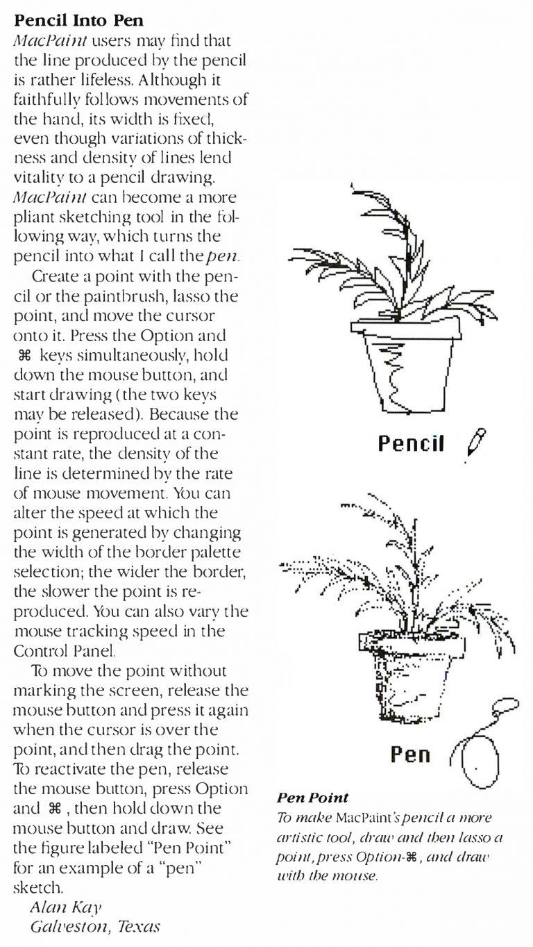 1984 Alan Kay MacPaint Tip