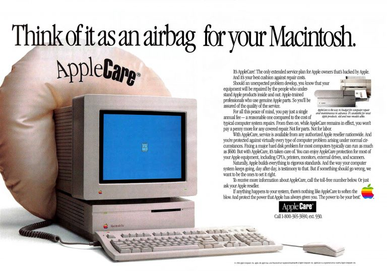 AppleCare 1992 Ad