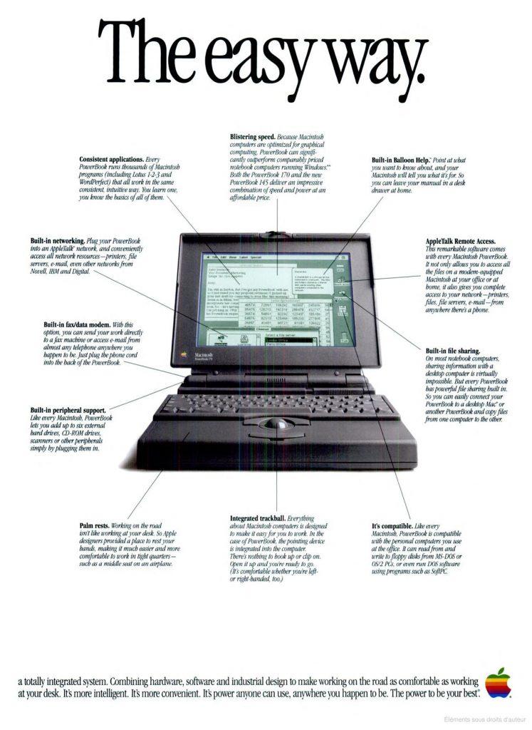 Publicité Apple 1992 PowerBook