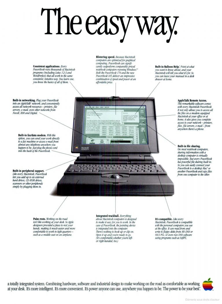 Publicité Apple 1992 PowerBook