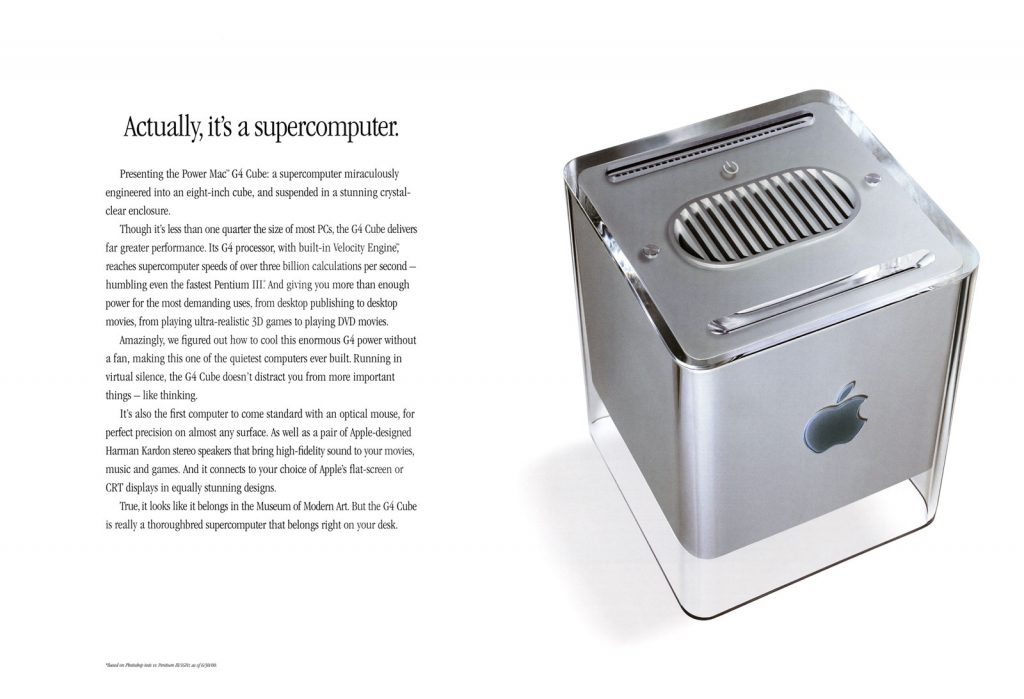 Power Mac G4 Cube ad