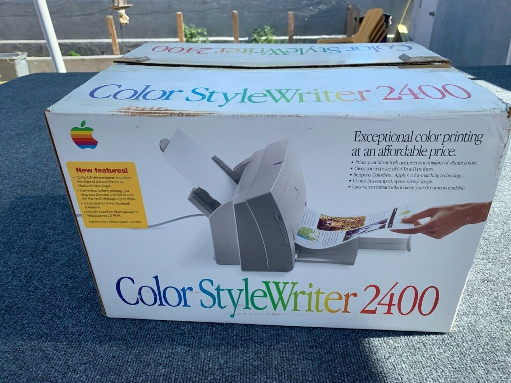 Color StyleWriter 2400 box