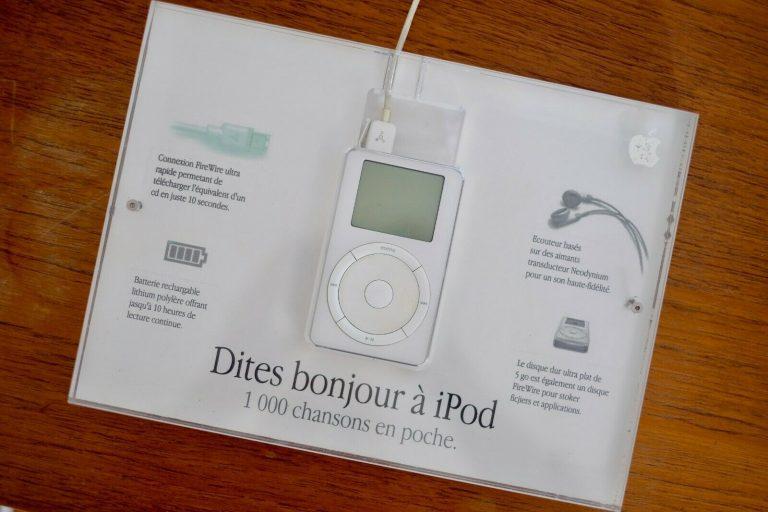 Présentoir iPod 2001 Apple