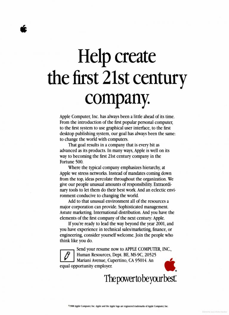 Apple help create the first 21st century company