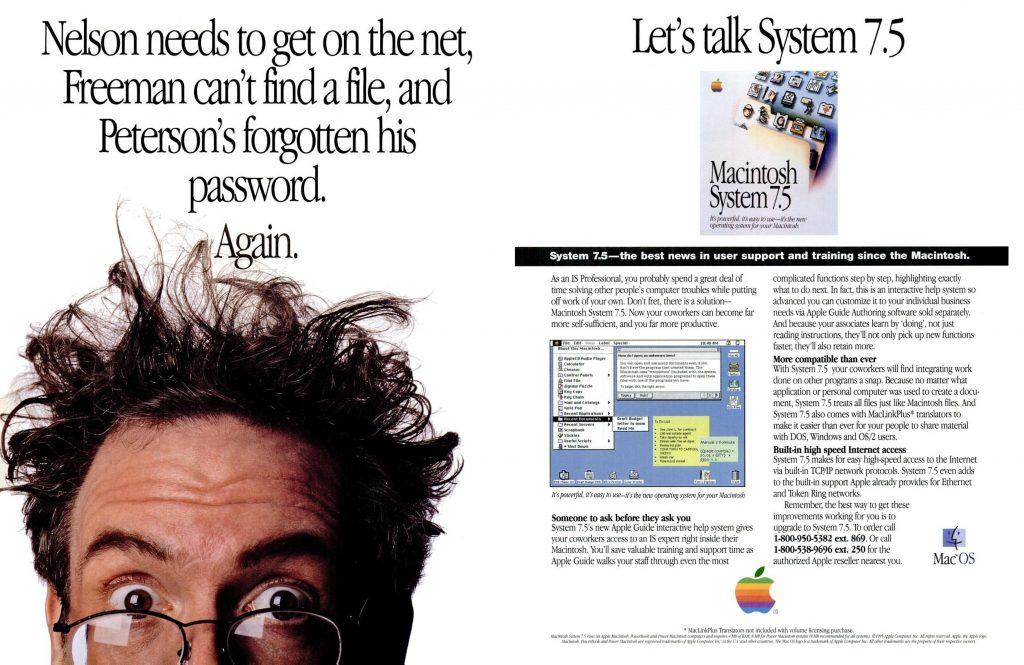 Publicité Apple Système 7.5