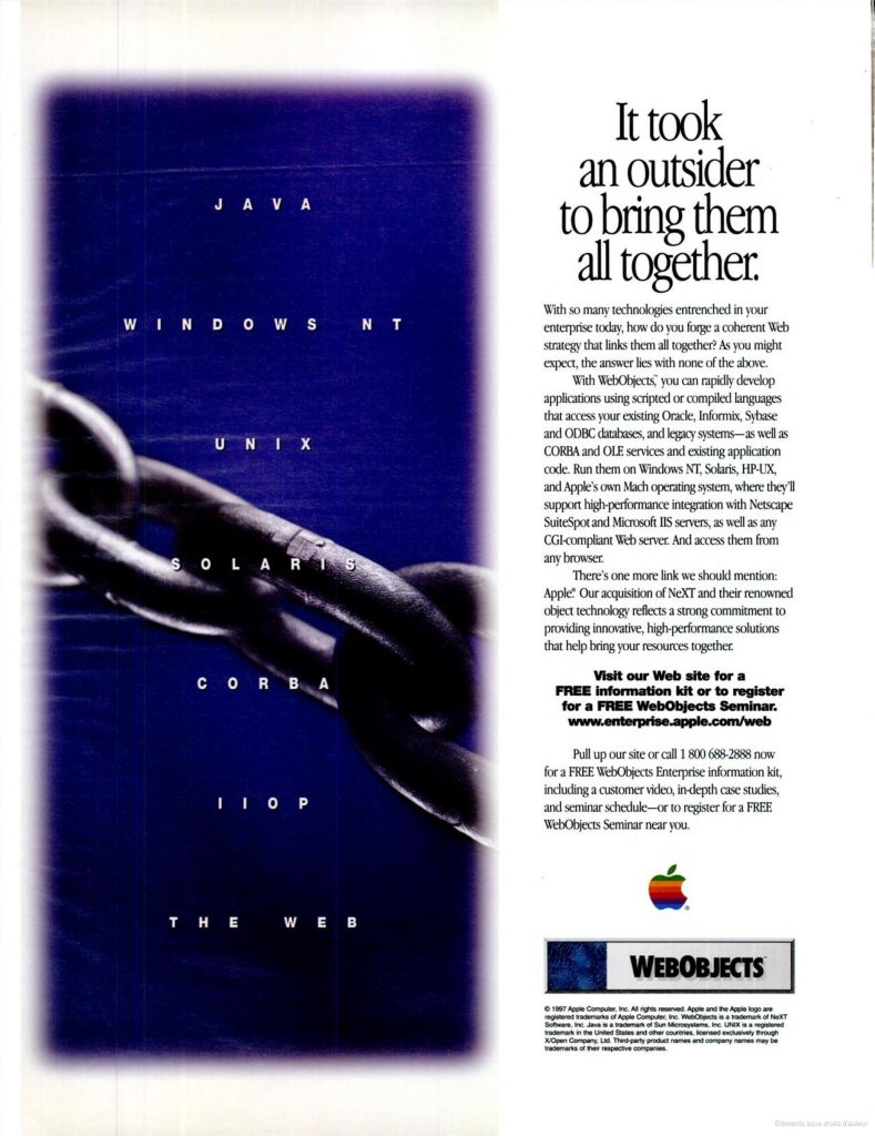 Apple webobjects ad