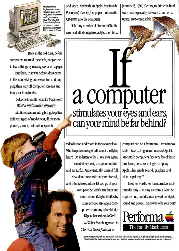 Apple 1995 ad Performa Mind