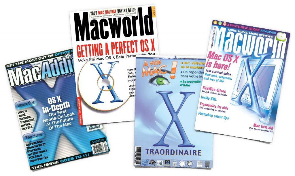 2000 Mac OS X public beta covers