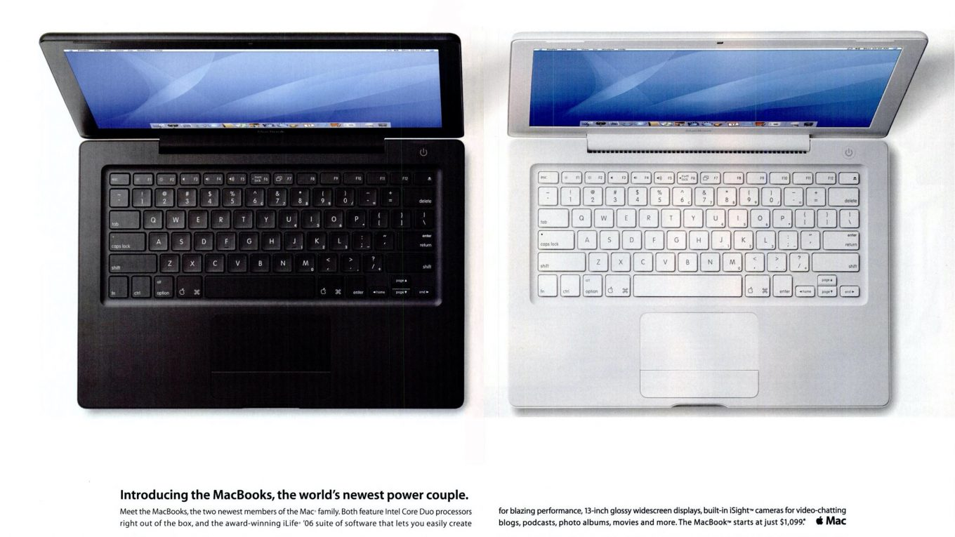 Apple 2006 MacBooks ad : the world's newest power couple
