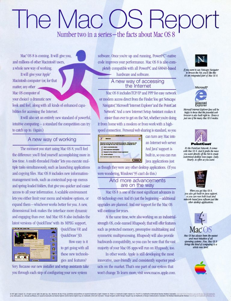 apple 1997 Mac OS Report ad 2
