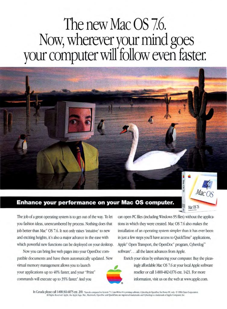 Apple 1997 Ad for Mac OS 7.6
