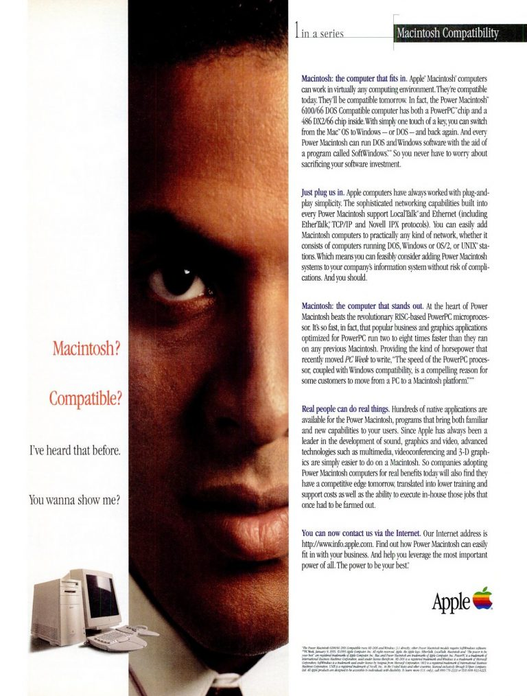 1995 Apple ad - Macintosh Compatibility