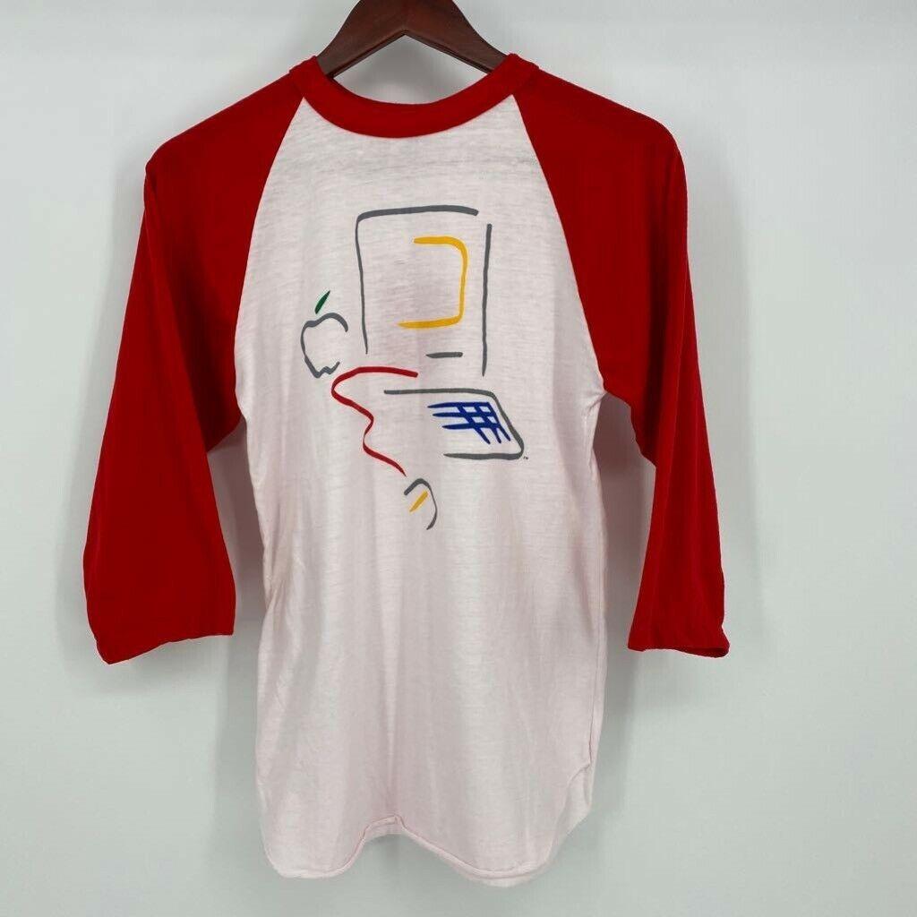 apple macintosh red t-shirt
