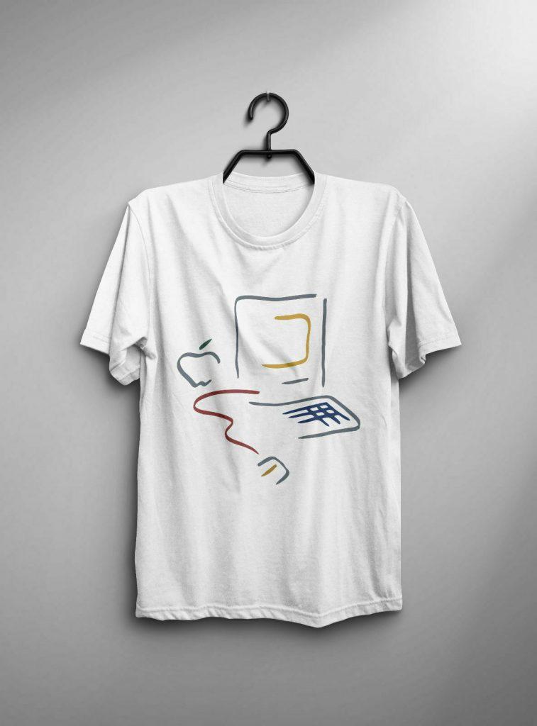 Apple Macintosh Picasso logo t-shirt reprint