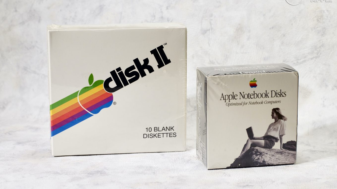 Disk II disquettes 5.25 et Apple Notebook disks