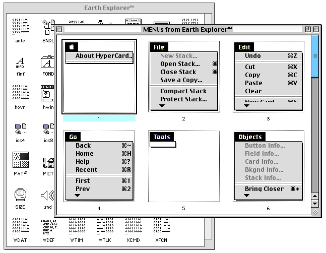 Apple 1995 Earth Explorer HyperCard