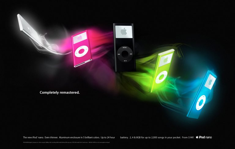 iPod nano Apple 2006 ad