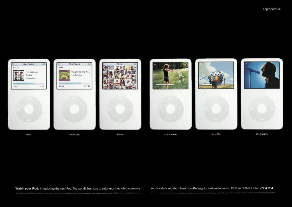 iPod video apple ad