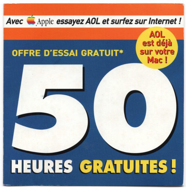 Apple AOL 50 heures