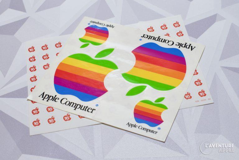Apple rainbow stickers