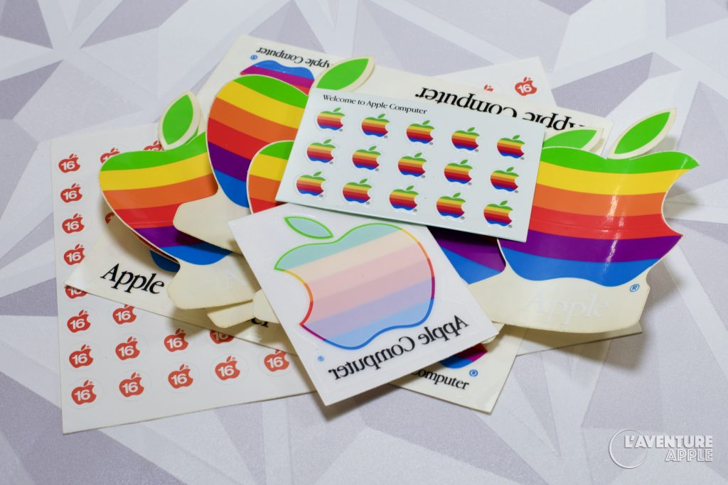 Apple rainbow stickers