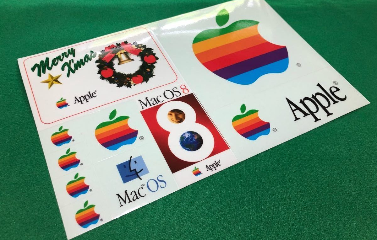 Apple autocollants japon merry xmas