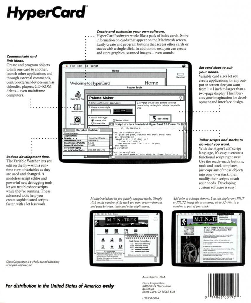 Claris HyperCard 2 box