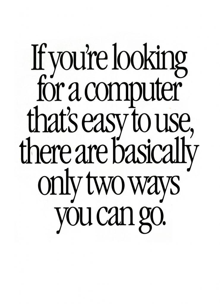 Apple Quadra Two ways ad