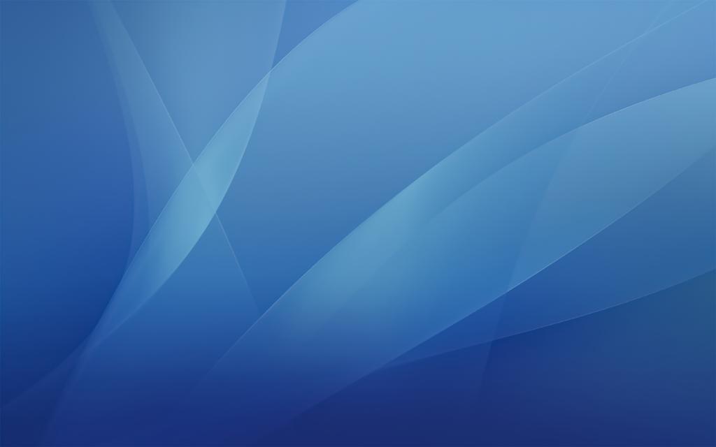 Mac OS X blue wallpaper