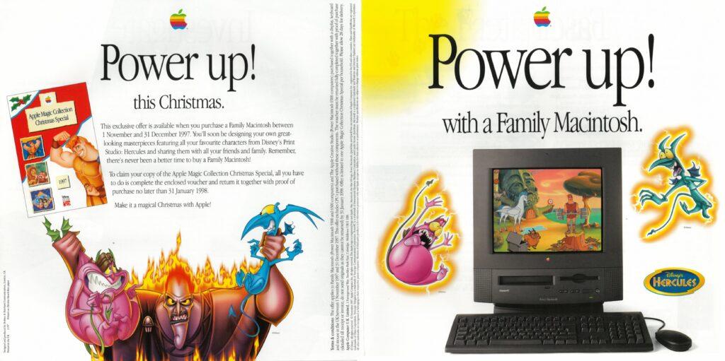 Apple 1997 ad : Power Up Disney Hercule