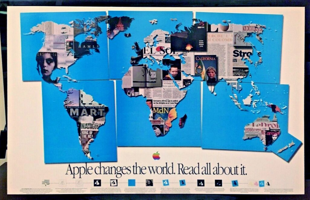 Apple 1990 changes the world poster