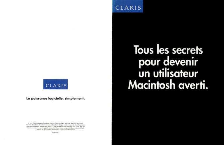 Brochure Claris Macintosh 1991