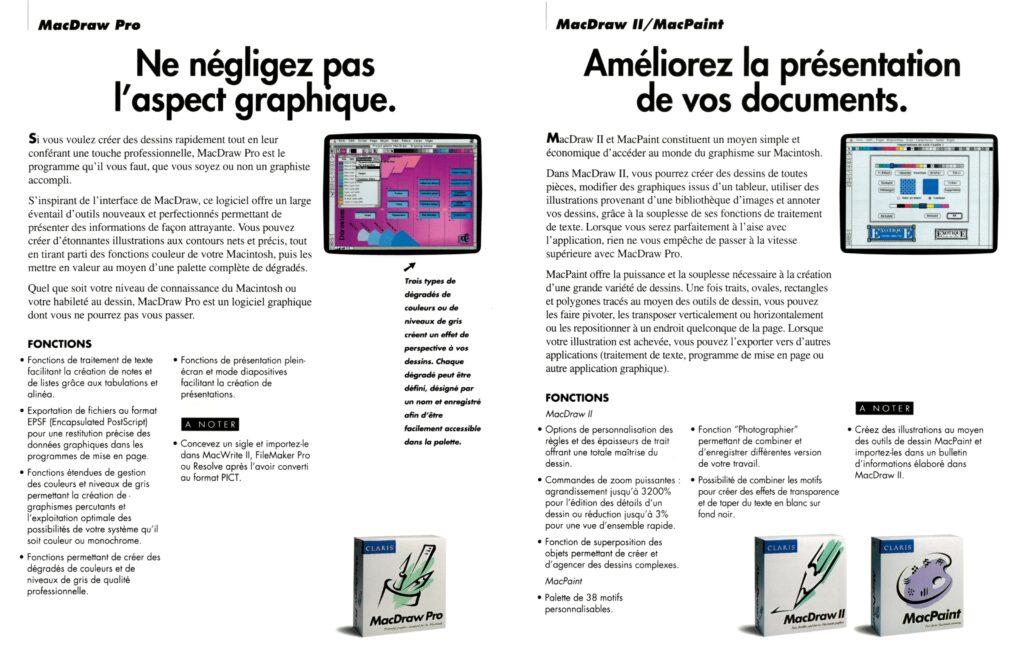 Brochure Claris Macintosh 1991