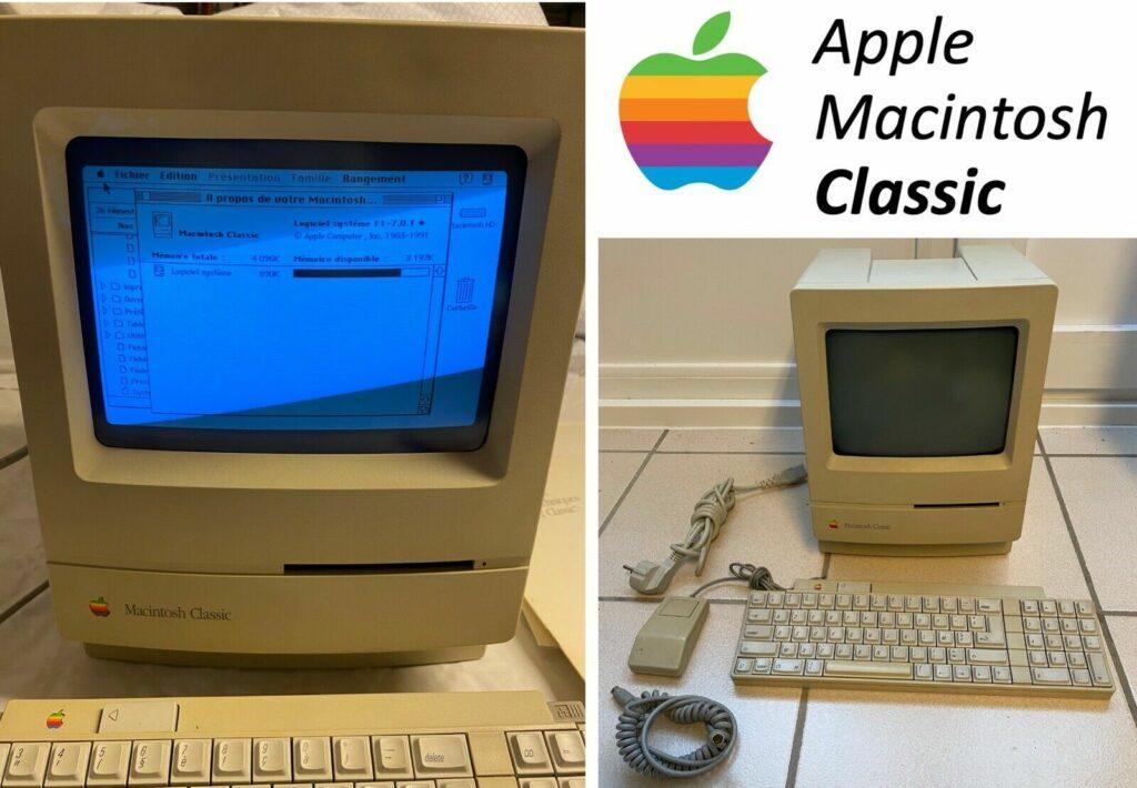 Macintosh Classic aux enchères eBay