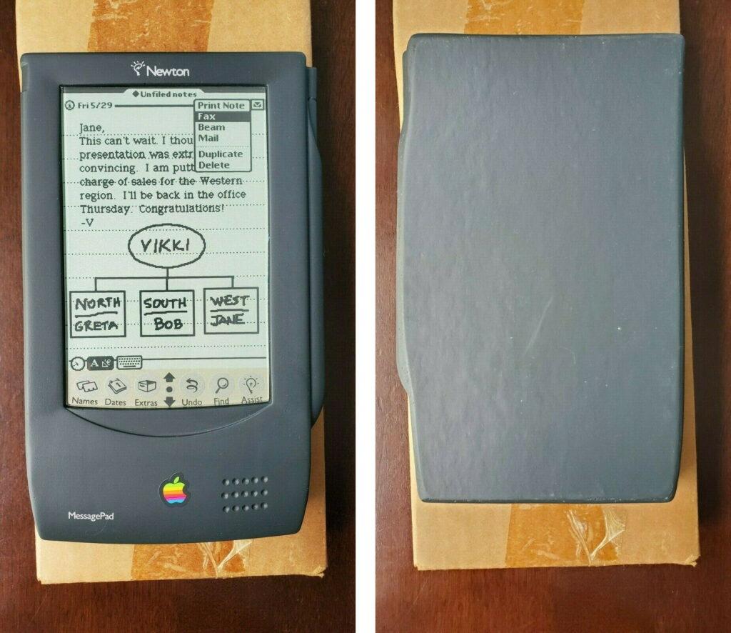 Dummy wooden Newton MessagePad