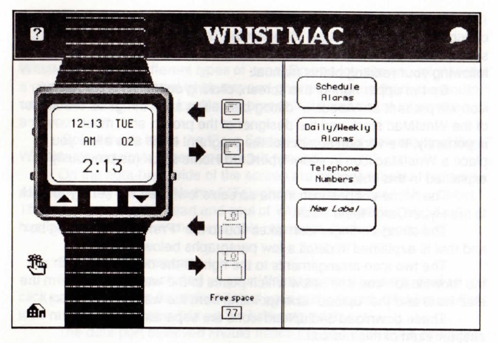 WristMac HyperCard stack pile